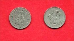 ZIMBABWE, 1980-1995, Circulated Coin, 5 Cent, Copper Nickel, Km2, C1608 - Zimbabwe