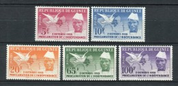 Rép De Guinée 1959. Yvert 3-7 ** MNH. - República De Guinea (1958-...)