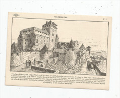 G-I-E , Cp , Dessin De A. Carlier , Histoire De France , Ed : Lib. Istra , N° 17 , Un Château Fort - Storia