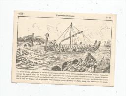 G-I-E , Cp , Dessin De A. Carlier , Histoire De France , Ed : Lib. Istra , N° 16 , L'arrivée Des Normands - Storia