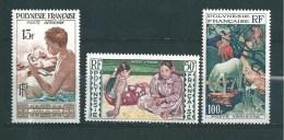 Polynésie PA De 1958  N°1 A 3  Neuf *  Cote  42€50 - Ungebraucht
