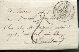 FRANCE 1832 FOLDED LETTER SAVERNE TO STRASBOURG - Altri