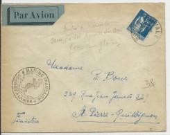 POSTE NAVALE - 1940 - ENVELOPPE D'un MARIN Sur Le CROISEUR GLOIRE Avec OBLITERATION TERRESTRE NAVAL (MARSEILLE) - Marcophilie (Lettres)