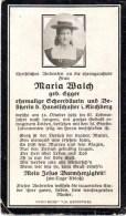 Andachtsbild Sterbebild - Maria Walch Geb. Egger Ehem. Scheerbäuerin In Kirchberg Gest,. 1929 - Religion &  Esoterik