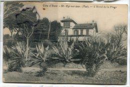 -  St-Cyr Sur Mer - ( Var ),  L'Hôtel De La Plage, écrite, Bon état, Pour Marseille,cliché Peu Courant,  Scans. - Saint-Cyr-sur-Mer