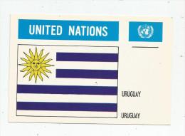 G-I-E , Cp , URUGUAY , UNITED NATIONS , Nations Unies , Drapeau , Vierge - Uruguay