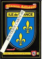 ILE DE FRANCE - BLASON -ECUSSON HERALDIQUE - Ile-de-France