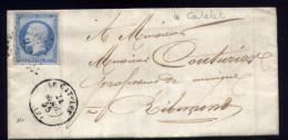 N°14  Sur Lettre  Le Catelet  Pour Ribemont   M102 - 1849-1876: Periodo Classico