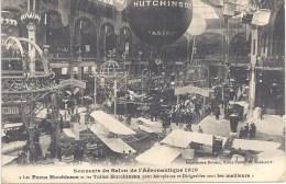 """75 PARIS - SALON De L´AERONAUTIQUE 1910 - """" Les Pneus Et Les Toiles HUTCHINSON Sont Les Meilleurs """" ! - Circulé - Dirigibili"""