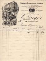 Facture à Entete : E.GUYOT Fabrique Instruments De Chirurgie PARIS - France
