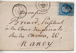 N° 22 - OBLITERATION  GC2336  METZ 55-  Sur Lettre - Marcophilie (Lettres)