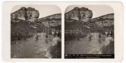 Alekonovka River - Ironclad Rock - Kislovodsk - Caucasus - Russia - Russie - Stereo Photo - Stereoscopique - Old Photo - Photos Stéréoscopiques