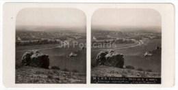 View At Railway Bridge - Stanitsa - Kislovodsk - Caucasus - Russia - Russie - Stereo Photo - Stereoscopique - Old Photo - Photos Stéréoscopiques