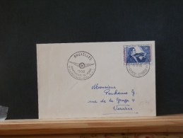 A6276  OBL.   BELGE   1958 - Airmail