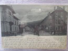 GRUSS AUS SCHIRMECK . RUE DE LA GARE . CIRCULEE 1897 . RARE - Schirmeck