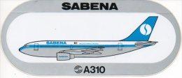 Sabena Sticker Autocollant Vliegtuig A310  Avion Airplane Flugzeug  Reclame - Stickers