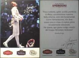 AK1 Fencing Foil Arianna Errigo Original Autograph Card Autogramm - Fencing
