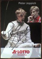 AK1 Fencing Foil Peter Joppich Original Autograph Card Autogramm - Fencing