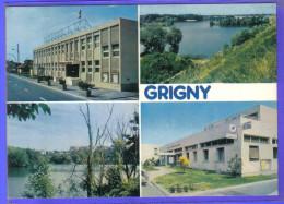 Carte Postale 91. Grigny La Poste, Les étangs Et La Mairie L  Très Beau Plan - Grigny