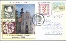 Croatia Lepoglava Lace Embroidery Special Card Bb160317 - Textiel
