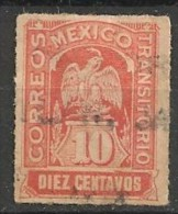 Timbres - Amérique - Mexique - 1914 - 10 Centavos - Transitorio - - Mexique