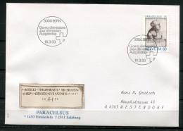 """First Day Cover Schweiz,Helvetia 1993 Mi.Nr.1493 Ersttagsbrief""""500.Geburtstag Von PARACELSUS,Artz,Naturforscher """" 1 FDC - Medicina"""