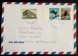 JAPAN   Nice Cover To Bosnia,Sarajevo  1999 Y. (BIRDS) - Aigles & Rapaces Diurnes