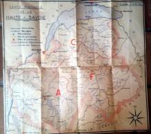 Carte Piscicole De La Haute-Savoie -1961 - FEDERATION Dle Des ASSOC PECHE Et PISCICULTURE - PAUL GAY  Annecy - Cartes