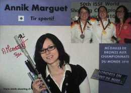 AK1 Shooting Rifle Annik Marguet Original Autograph Card Autogramm - Autographes
