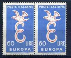 "1958 REPUBBLICA VARIETA´ N.839 TRATTO BIANCO DOPO ""EUROPA"" - Variétés Et Curiosités"