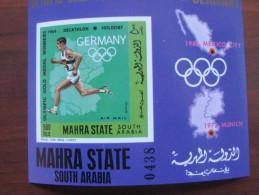 Mahra Aden 1968 MNH Germany Imperf - Verano 1968: México
