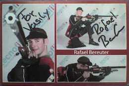 AK1 Shooting Rifle Rafael Bereuter Original Autograph Card Autogramm - Autographes