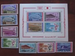 Umm Al Qiwain MNH 1964  118.24 +BL 7 - Zomer 1964: Tokyo