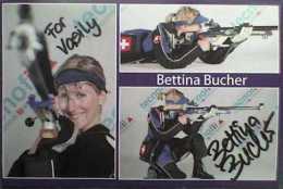 AK1 Shooting Rifle Bettina Bucher Original Autograph Card Autogramm - Autographes
