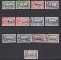 Falkland Islands 1938 King George VI Pictorials 13v Mh (= Mint, Hinged) (FI1008B) - Falklandeilanden