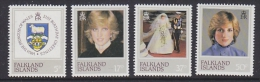 Falkland Islands 1982 21st Birthday Princess Diana 4v ** Mnh (FI1009B) - Falklandeilanden