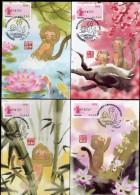 2016 - R.O. CHINA/Taiwan -Maximum Card-Auspicious Monkey (5 Pcs.) - Monkeys