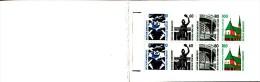 Germany Booklet Scott #1530a Pane Of 8 2 Each Frankfurt Airport, Bronze Ststue, Zollern II Coal Mine, Altotting Chapel - [7] République Fédérale