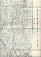 Carte Du Réseau Des Chemins De Fer Del'Est Algéri/Algérie/ Fascicule Annuaire Valeurs Admises Cote Officielle/1903 TRA17 - Chemin De Fer