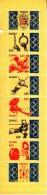 Monaco Booklet Scott #1879a Pane Of 8 4.50fr Emblem, Gymnastics, Judo, Fencing, Hurdles, Archery, Weights - 101st - Carnets