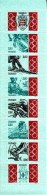 Monaco Booklet Scott #1871a Pane Of 8 2.80fr Emblem, Bobsled, Skiing, Sailing, Rowing, Swimming, Cycling - 101st - Carnets