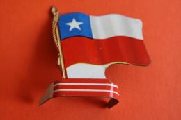 DRAPEAU Du CHILI PUBLICITE L´ALSACIENNE BISCUITS PETITS-EXQUIS COLLECTION AMERICORAMA DRAPEAURAMA AMERIQUE Drapeaux - Plaques Publicitaires