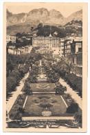 06 - MENTON - Le Jardin Public Et Les Montagnes De Ste-Agnès - Editions Munier - 1938 - Timbre Monaco - Menton