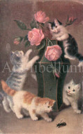 Postcard / CP / Postkaart / Cats / Chats / Artist / Printed In Germany / 1910 - Chats