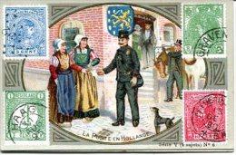 5 Chromos SODEX - La Poste Avec Timbres Tous Pays Série V Norvège Russie Allemagne Autriche Hollande - Chromos