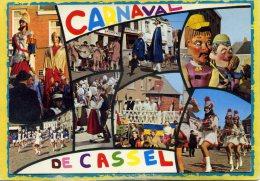 Cassel - Carnaval - Multivues. Majorettes Geants...timbre Decollé. - Cassel