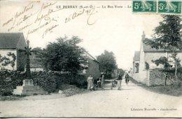 LE PERRAY (78) - La Rue Verte Avecpetite Animation - Cachet Convoyeur-ligne Paris à Chartres - Le Perray En Yvelines