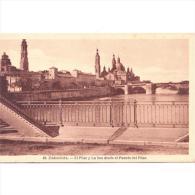 ZRGZTPA4493-LFTD8337.Tarjeta Postal De ZARAGOZA. Puente,RIO EBRO Y La Basilica De EL PILAR Y LA SEO En Zaragoza - Zaragoza