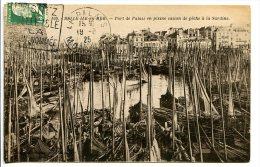 BELLE-ILE-en-MER (56) - Port De Palais En Pleine Saison De Pêche à La Sardine - Nombreux Bateaux De Pêcheurs - Belle Ile En Mer