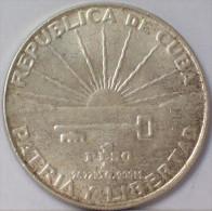 CUBA - 1 PESO 1953 - ARGENTO - SILVER - Cuba